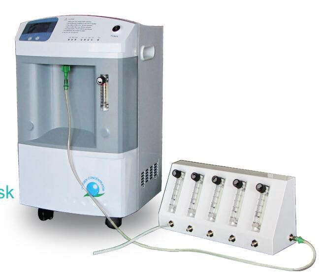 Pediatric 10 Liters Oxygen Concentrator with 5 Way Flow Splitter